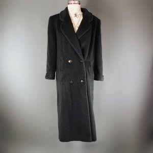 Cathy Jo dark green wool coat.